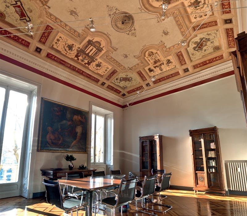 Ocra-Rossa restauro soffitto affresco