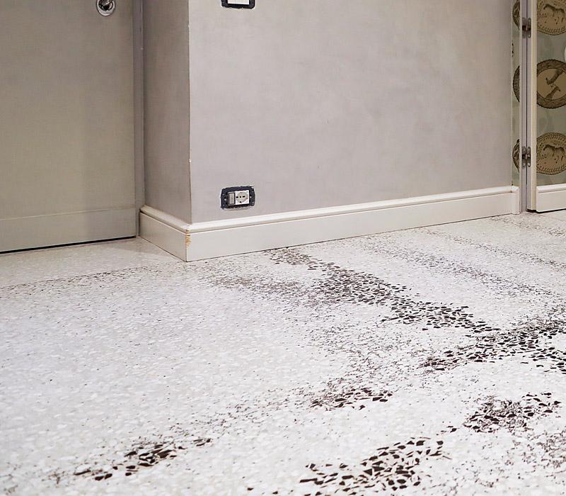 pavimento salone monocromatico