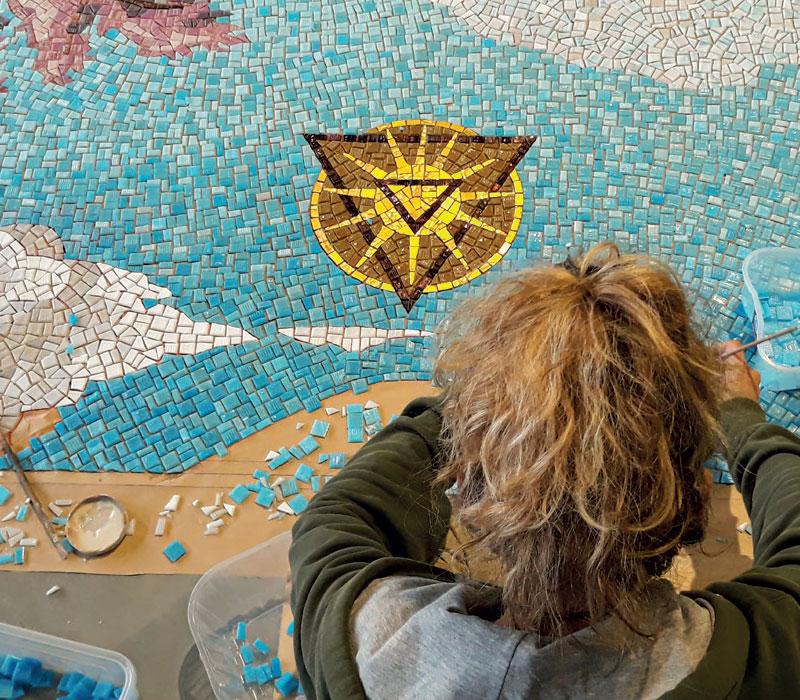 mosaico ornamentale Torino