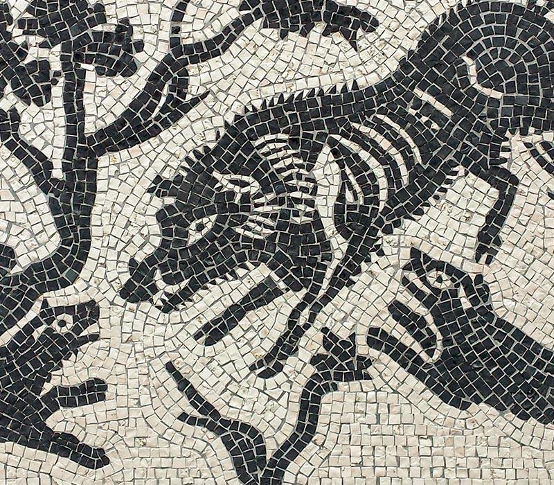mosaico artistico pompeiano