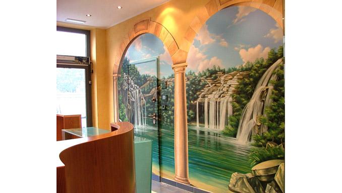 Dipinti Murali Per Interni : Dipinti orizzonte marino u trompe l oeil ocrarossa