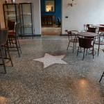 Stella in pavimento in seminato alla veneziana